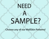 SAMPLES Removable Wallpaper- SAMPLES- CHOOSE 2! -Peel & Stick Fabric Temporary-Repositionable-Reusable-Self Adhesive