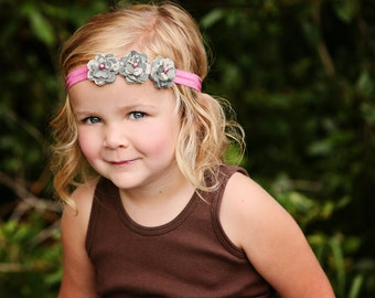 Army - ACU Fabric Flowers Headband