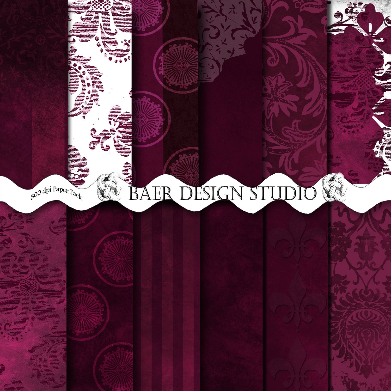 Sangria Wedding Invitations: Sangria DIgital Paper Wedding Digital Paper Burgundy Digital
