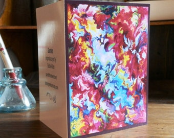 5 Pack of Abstract Garden Blank Notecards
