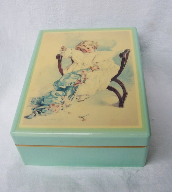 Maud Humphrey Bogart - JEWELRY BOX -The Seamstress- no.H1300 - 1987 Wooden