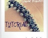 Simone Bracelet Beading Tutorial - Step-by-Step Beading instructions - PDF File