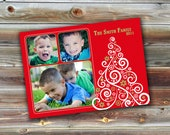 0112 5x7 Christmas Holiday Photoshop PSD Photo Card Template for Photographers - Modern Christmas 2 of 3 -  Millers, Whcc or Mpix
