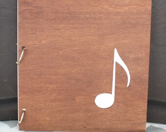 Large 8.5X11 Music note journal / album