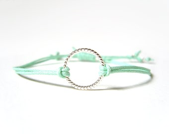 Mint Bracelet, Eternity Bracelet, String Friendship Bracelet, Gifts for Teenagers, UK Seller