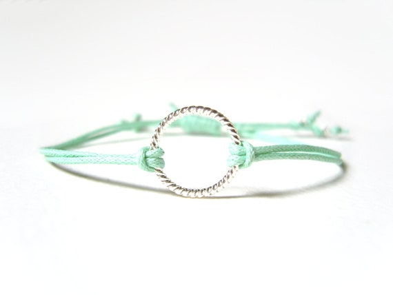 Mint Bracelet, Eternity Bracelet, String Friendship Bracelet, Gifts for Teenagers, UK Seller
