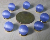 Cats Eye Blue 8mm Glass Bead