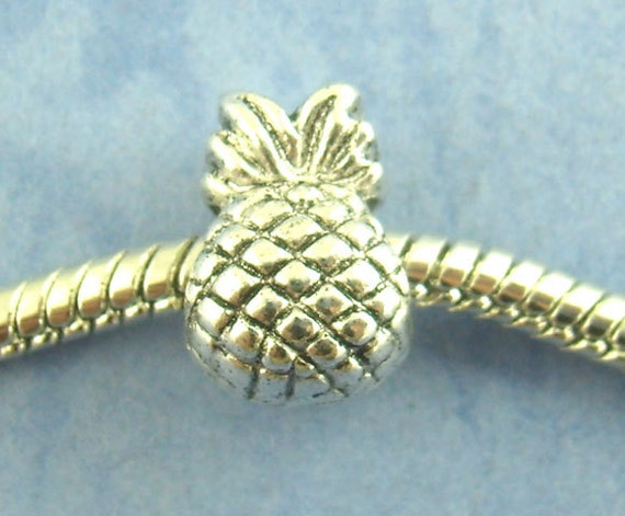 SALE 5 Silver Pineapple Beads - Antique Silver - 12x9mm - Ships IMMEDIATELY from California - B119
