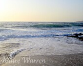 Wet Sand and Sea, Carmel by the Sea, California, Matted Photography Print By Klaire Warren