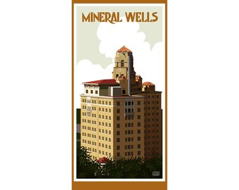 Mineral Wells Texas Fridge Magnet
