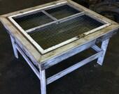 Window Frame Shadow Box Table
