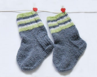 Baby Socks Grey Striped