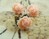 Vintage Style Flower Ring Gift Set with Earrings--You Choose