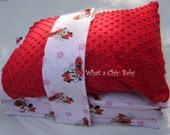 Minnie Mouse Nap Mat Cover with Pillow Case; Optional Mat and Pillow