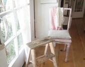 RESERVED for Karen Vintage pink ladder  stool