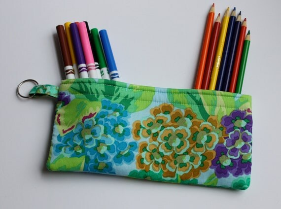 SALE   Pencil Case Electronic Gadgets Phone Cosmetic pouch with split keyring Quilt Quality Floral Christmas Stocking Stuffer