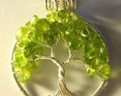 Peridot Gemstone Tree of Life