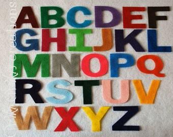 Felt Uppercase Letters - Pick your colors