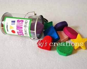 Felt Shape Blocks with Container - 11 pieces