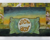 New Day - Sunrise - Postcard Original Mixed Media - 4 x 6 inches