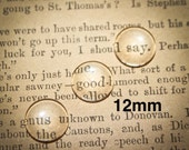 24  12 mm Round Domed Glass Cabochons for pendants, magnets or mosaics