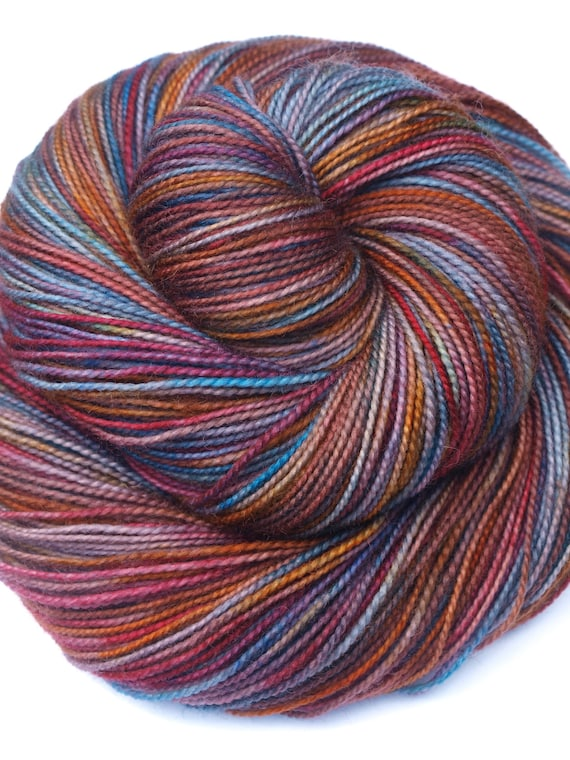 DR WHO, Wibbly Wobbly, Timey Wimey, Hand Dyed Fingering/Sock Yarn, 100% SW Merino