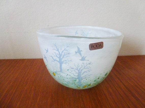 SALE Vintage Kjell Engman Kosta Boda glass bowl