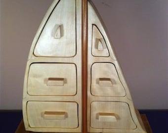 Large Sail Boat Box