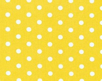 Yellow Polka Dots, Robert Kaufman, Pimatex Basics, 1 yard Fabric, 00858