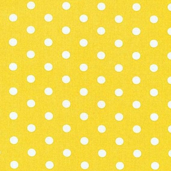 Yellow Polka Dots, Robert Kaufman, Pimatex Basics, Polka Dots, 00858