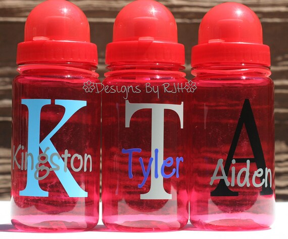 CLEARANCE Kids Water Bottles - 15oz Name and Initial