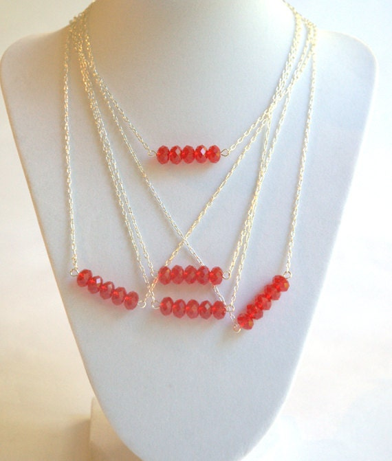 Custom order for Shannon - Set of modern five bead necklaces
