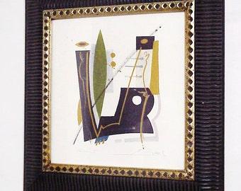 Emotion III Modern Art Framed Serigraph, Suprematism, Symbolism, Expressionism