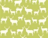 END OF BOLT, 13 inches, Elk Family Grass, Mod Basics 2, Jay Cyn for Birch Fabrics, Organic Fabric