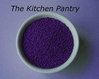 Cupcake Decorations  Purple Non-pareils Sprinkles   4 oz