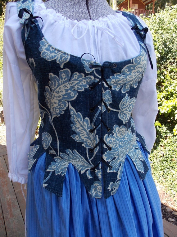 18th Century Blue Reversable Jumps and Petticoat Outfit
