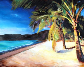 Beach at Magen's Bay St Thomas US Virgin Islands - Limited Edition Fine Art Print