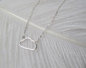 "Sterling Silver 18"" Minimal Necklace // Every Cloud Has A Silver Lining // Great Gift for the Holidays & Gift for Her // Item Ships FREE"