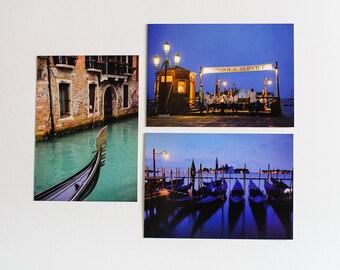 Venice, Set of 3, Postcards, Venice Photography, Travel photography, Gift for friend, gift for traveler, Italy, Photography,