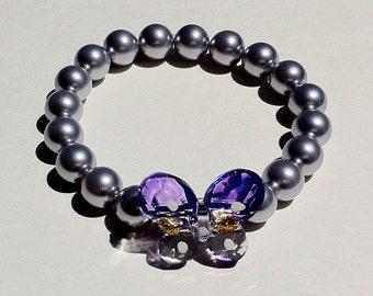 Mco Lavender Butterfly Bracelet