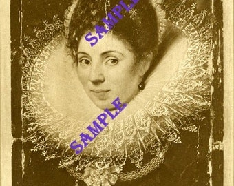 Digital Download-Lady  With a Ruff Vintage print