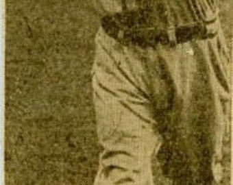 Digital Download-Johnny Hopp Newspaper photo-Baseball, Cardinals 1944