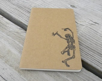 Mini Dancing Skeleton  Journal