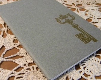 Mini Skeleton Key Embossed  Journal