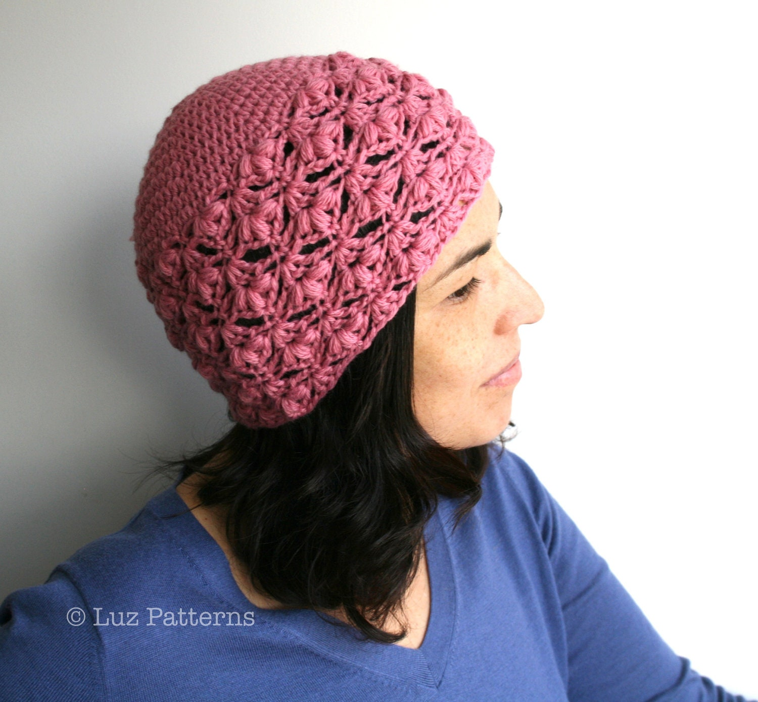 Free Crochet Pattern For Ladies Beanie Hat : Crochet hat PATTERN INSTANT DOWNLOAD crochet women beanie
