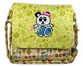 Messenger Bag Green Yellow Panda