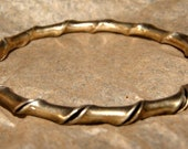 OLD GREEK STERLING Bangle Bracelet c1950