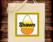 Halloween Candy Corn Canvas Tote/ Bag