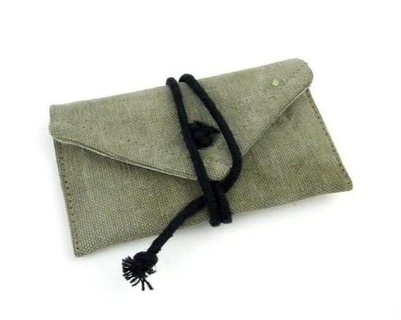 Recycled Canvas ID Wallet