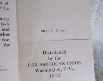 """Antique book """"Brazil in 1911"""" by J.C. Oakenfull"""